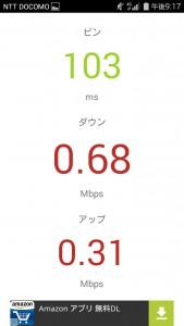 通信速度楽天モバイル(ascend g620s)LTE002