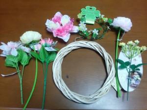 【セリア】リース用の造花001