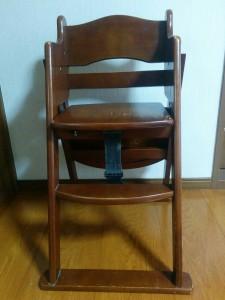 ハイチェアをこども用の椅子にリメイク002