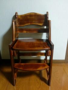 ハイチェアをこども用の椅子にリメイク017