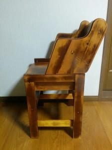 ハイチェアをこども用の椅子にリメイク019