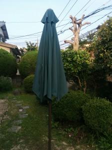 ガーデンパラソル修理001