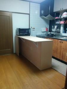 キッチンカウンターDIY020
