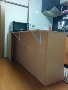 キッチンカウンターDIY017