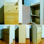 カラーボックスに扉を!セリアグッズで木のぬくもり収納ボックス