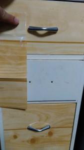 セリアのキッチン壁用シートでゴミ箱リメイク004