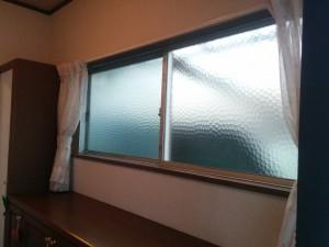 コンパネフレームで二重窓014