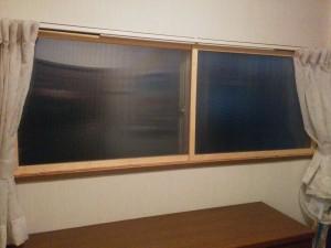 コンパネフレームで二重窓017
