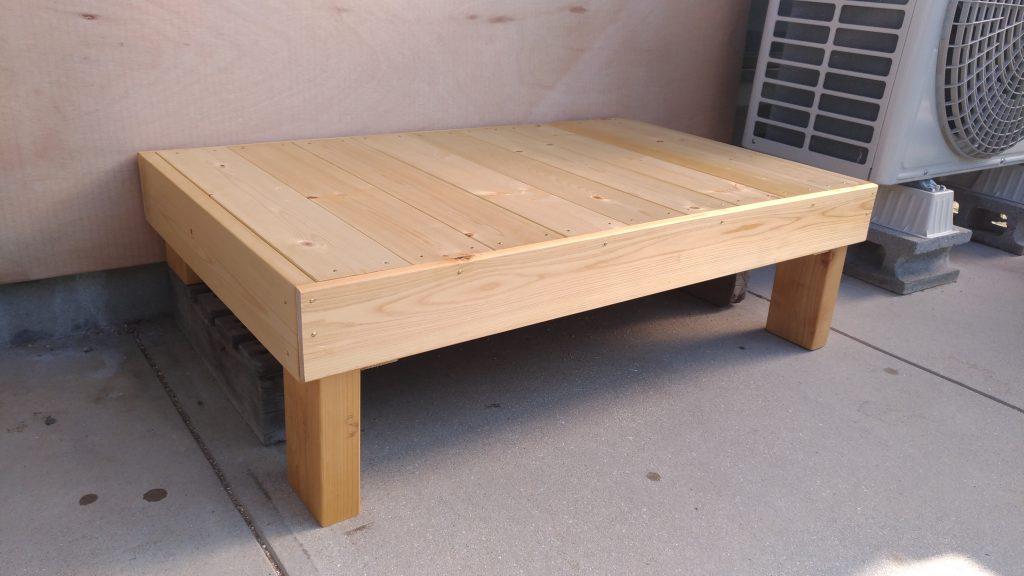 掃き出し窓用ステップを木材費1490円で作ってみた!
