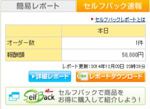 ネットナビ セルフバック 50000円