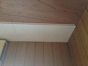 トイレの天井をクリアトーンに011