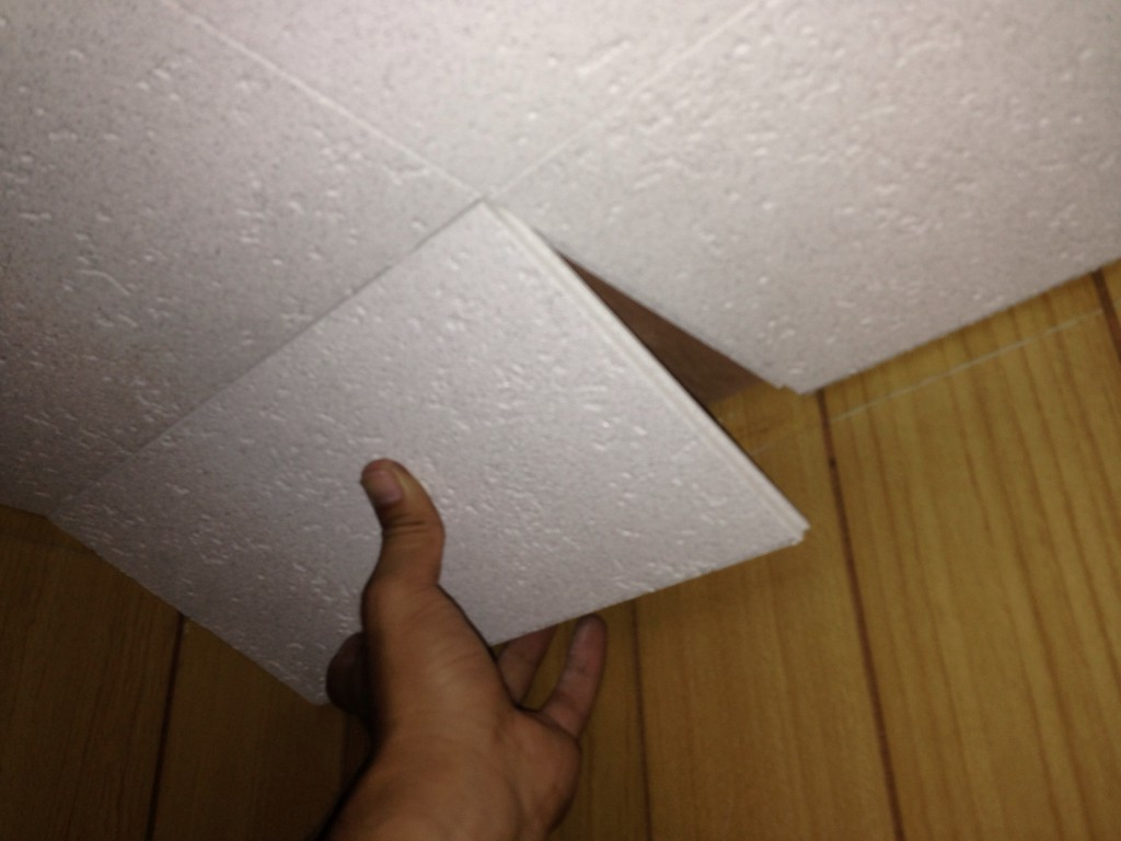 トイレの天井にクリアトーン12Sを張ってみた