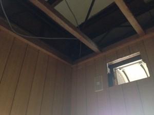 トイレの天井をクリアトーンに005