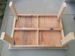 手作り折りたたみテーブル作り方013