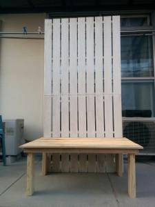 折りたたみテーブルと壁の連結009