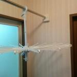 【DIY】脱衣場に取り外し可能の物干し竿を作ってみました。