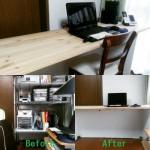 【DIY】IKEAのダブルベッドをパソコンデスクにリメイク