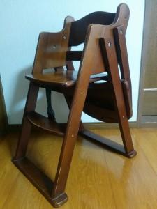 ハイチェアをこども用の椅子にリメイク003