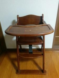 ハイチェアをこども用の椅子にリメイク001
