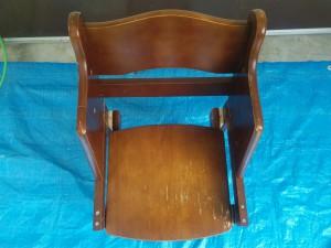 ハイチェアをこども用の椅子にリメイク012