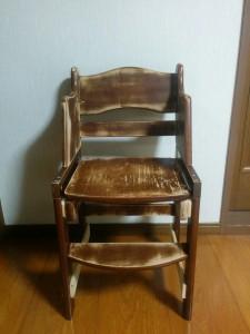 ハイチェアをこども用の椅子にリメイク013