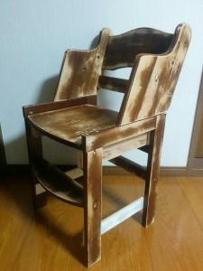 ハイチェアをこども用の椅子にリメイク014