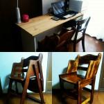 【DIY】ハイチェアをこども用の椅子にリメイク