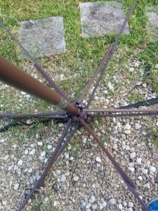 ガーデンパラソル修理004