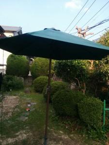 ガーデンパラソル修理016
