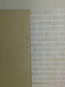 古めかしい扉をレンガ調にリメイク010