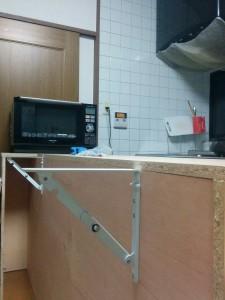 キッチンカウンターDIY016