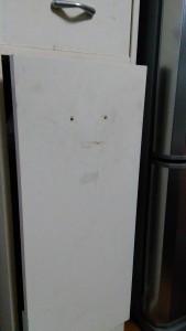 セリアのキッチン壁用シートでゴミ箱リメイク002