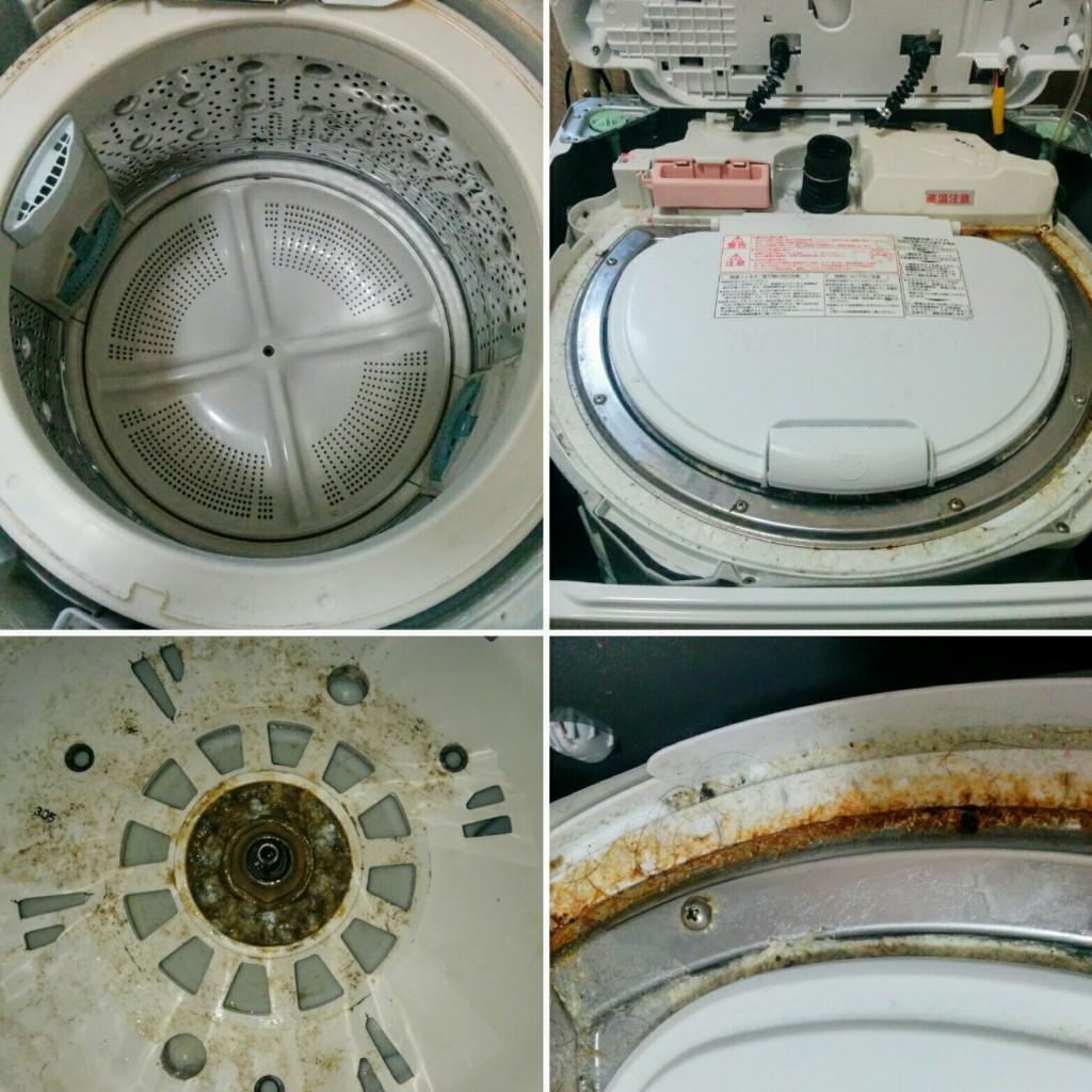 洗濯槽のカビ臭い匂いを撃退!洗濯槽の分解掃除に挑戦するも・・・