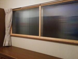 コンパネフレームで二重窓016