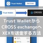 Trust WalletからCROSS exchangeへXEXを送金する方法